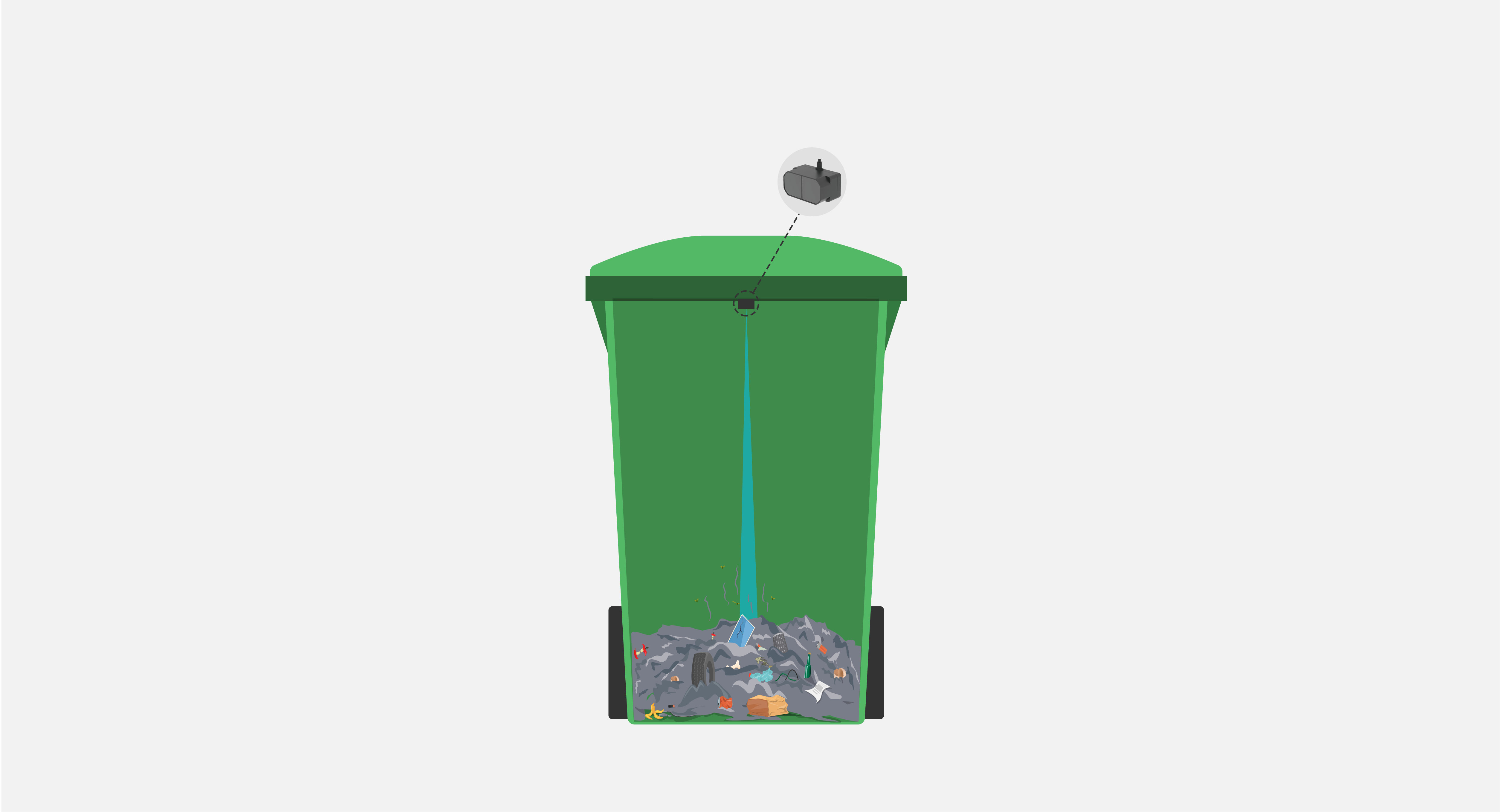 Intelligent trash can, Garbage bin sensor, Garbage bin sensor